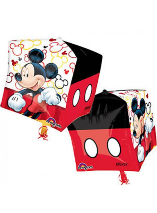 Balão Metalizado Mickey Cubez – 1 unidade
