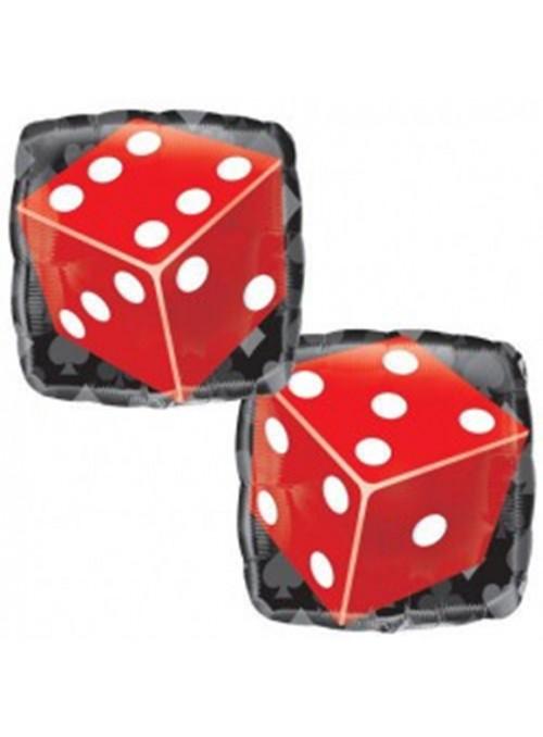 Balão Metalizado Quadrado Casino – 1 unidade