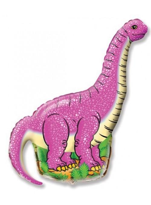 Balão Metalizado Dinossauro Rosa – 1 unidade