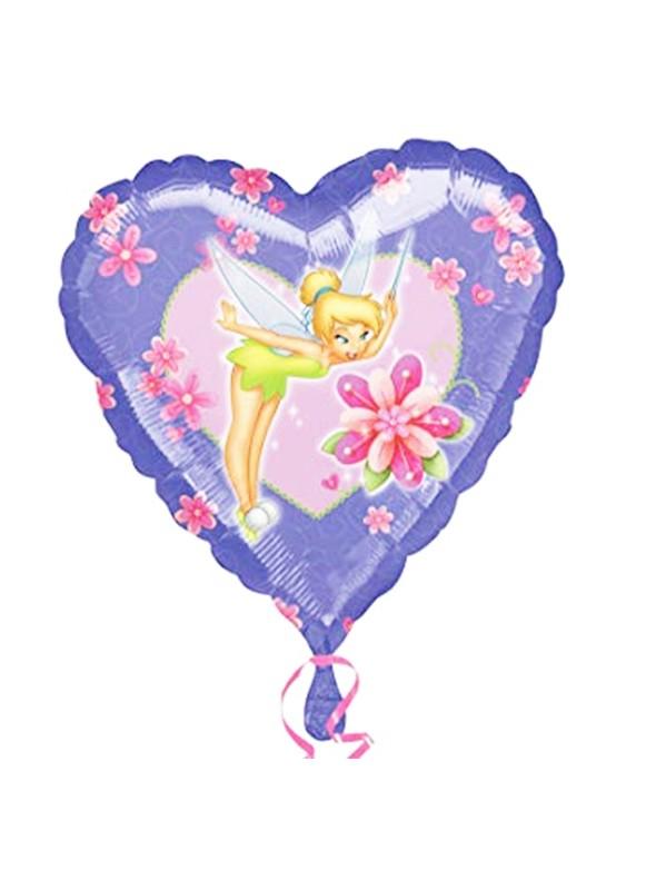 Balão Metalizado Coração Sininho Tamanho P – 1 unidade