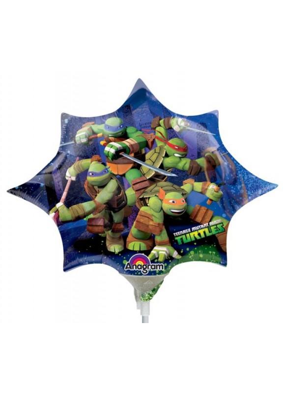 Balão Metalizado Tartarugas Ninja Tamanho P – 1 unidade
