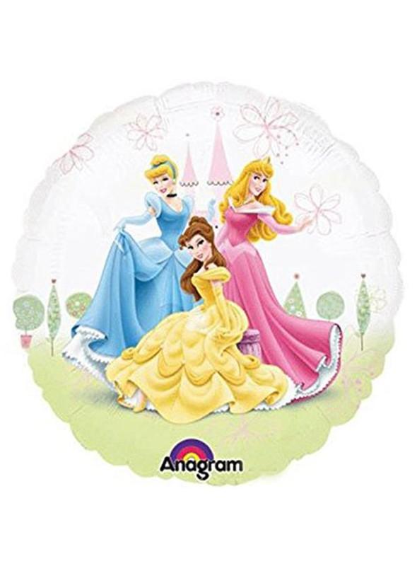 Balão Metalizado Redondo Princesas Tamanho P – 1 unidade