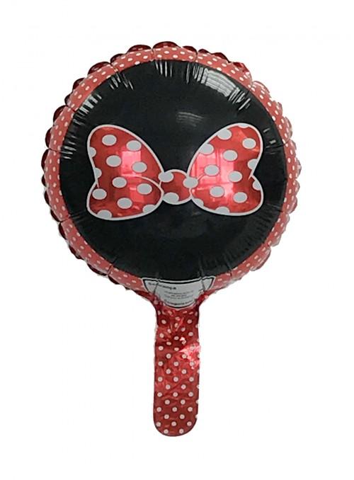 Balão Metalizado Laço Minnie Tamanho P – 1 unidade