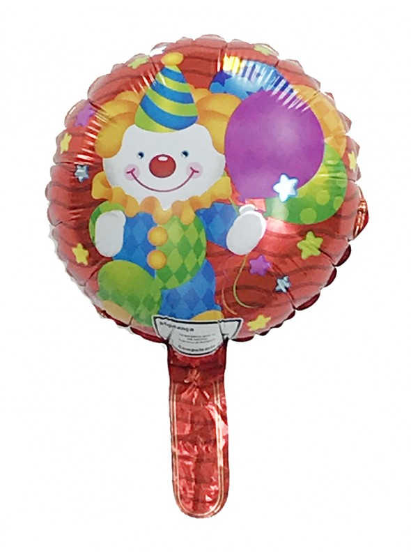 Balão Metalizado Palhaço Tamanho P – 1 unidade
