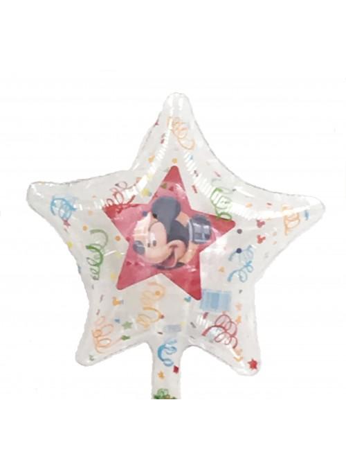 Balão Metalizado Estrela Mickey Tamanho P – 1 unidade