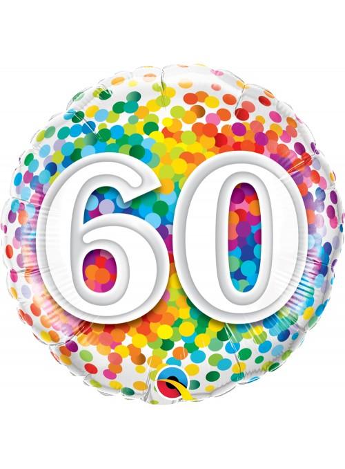 Balão Metalizado Aniversário 60 Anos – 1 unidade