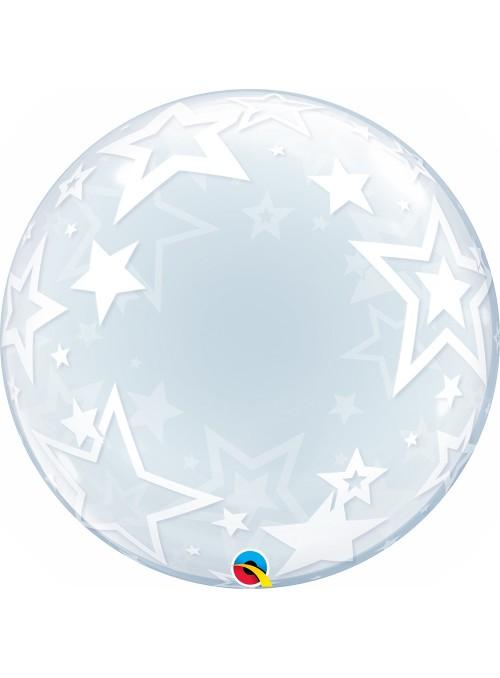 Balão Bubble Transparente Estrelas – 1 unidade