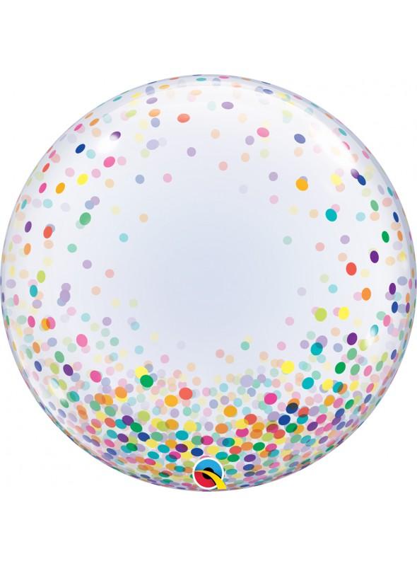 Balão Bubble Transparente Confetes – 1 unidade