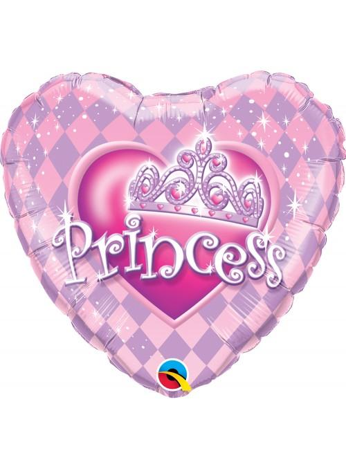 Balão Metalizado Tiara de Princesa – 1 unidade