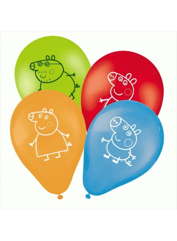 Balões de Látex Peppa Pig – 25 unidades