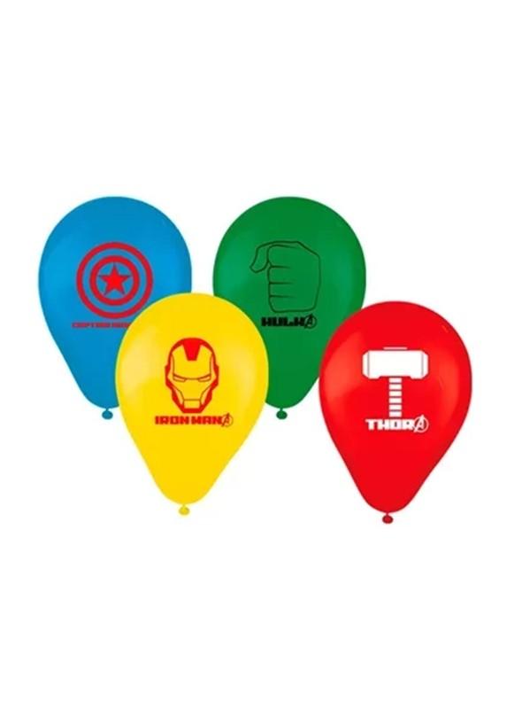 Balões de Látex Os Vingadores Avengers 9 Polegadas 23cm Regina Festas – 25 unidades