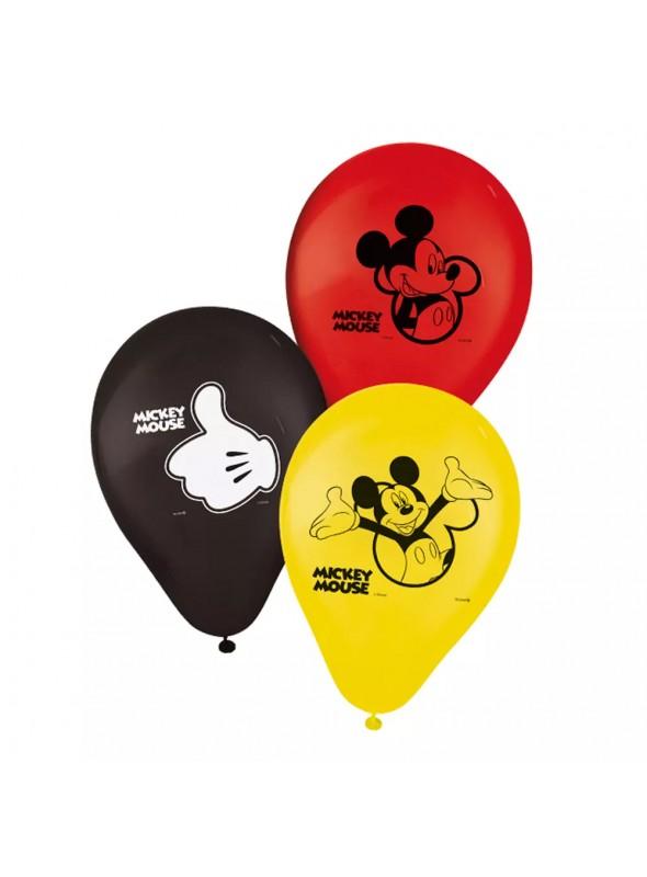 Balões de Látex Mickey – 25 unidades