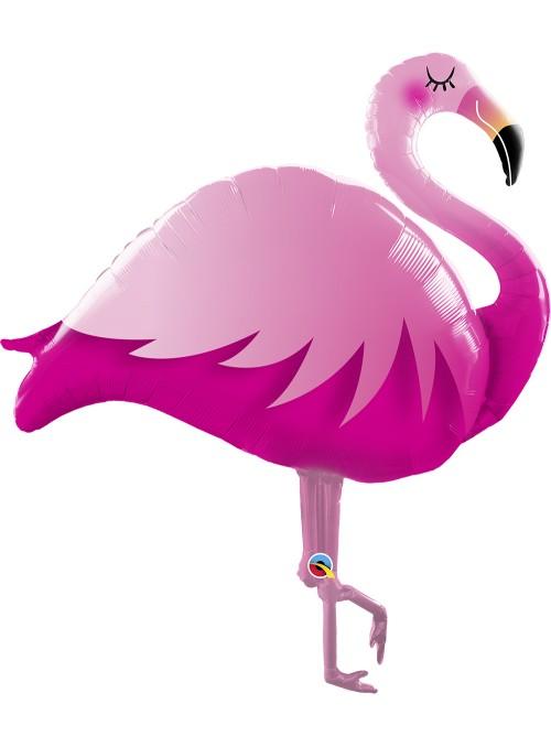 Balão Metalizado Flamingo Rosa – 1 unidade