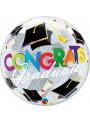 Balão Bubble Transparente Chapéu Formatura – 1 unidade