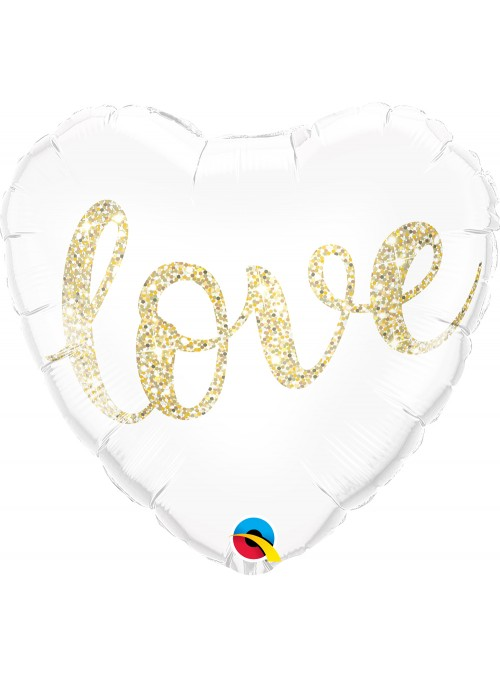 Balão Metalizado Coração Love – 1 unidade
