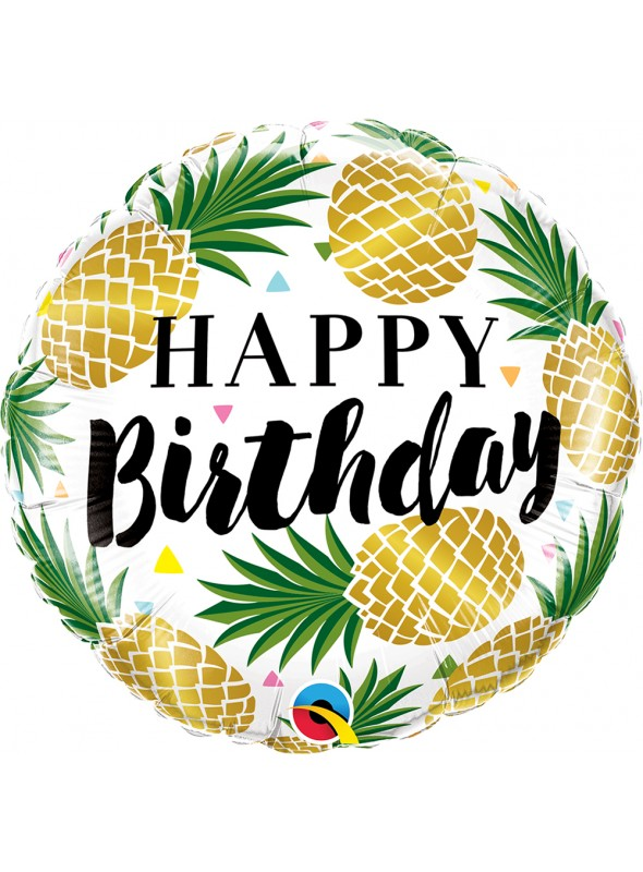 Balão Metalizado Aniversário Fruta Abacaxi – 1 unidade