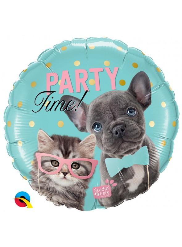 Balão Metalizado Festa Cachorro e Gato – 1 unidade