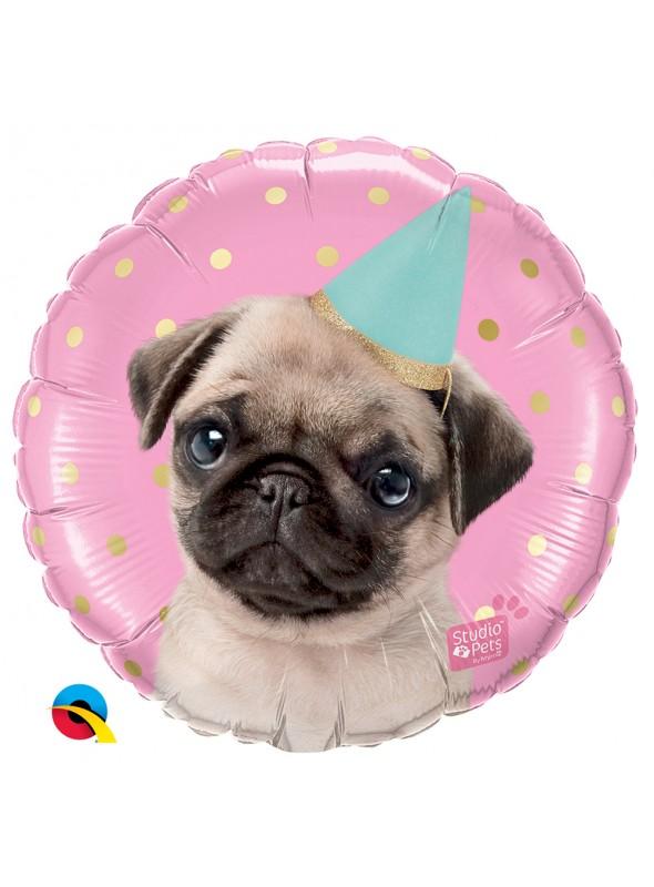 Balão Metalizado Festa Cachorro Pet – 1 unidade