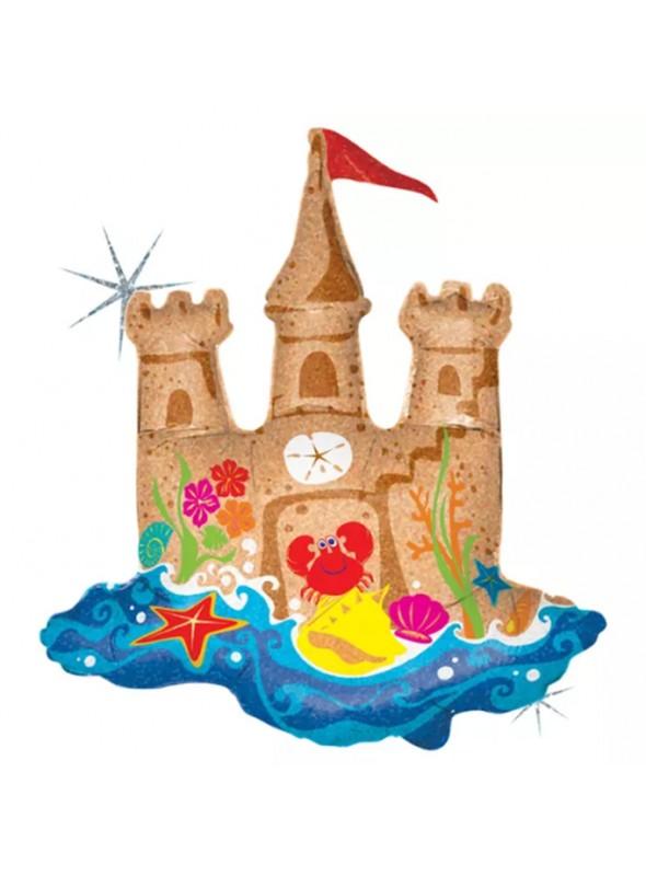 Balão Metalizado Castelo de Areia – 1 unidade