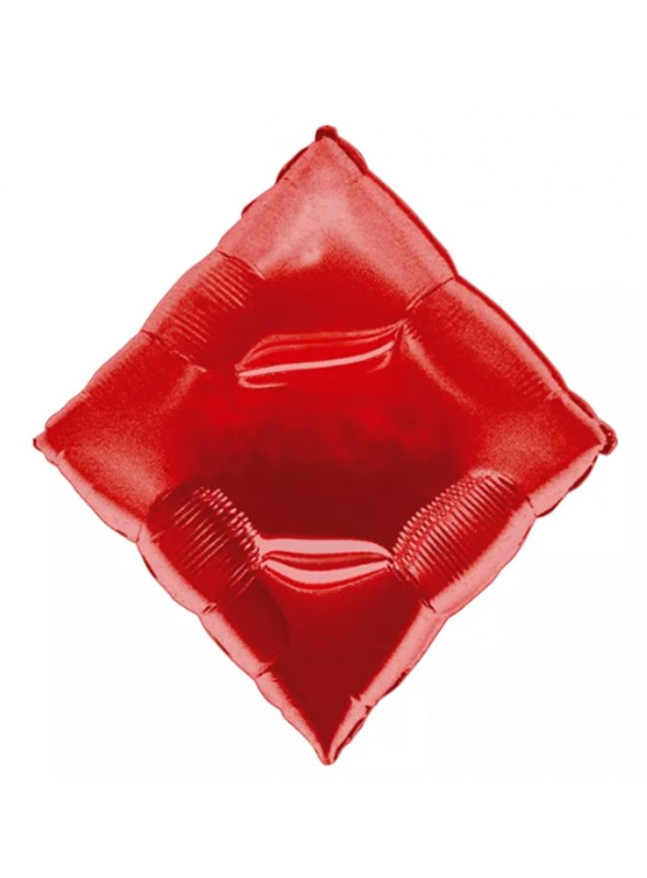 Balão Metalizado Naipes Ouros Cassino – 1 unidade