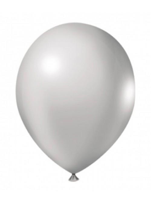 Balões de Látex Metalizados Branco 10 Polegadas – 50 unidades
