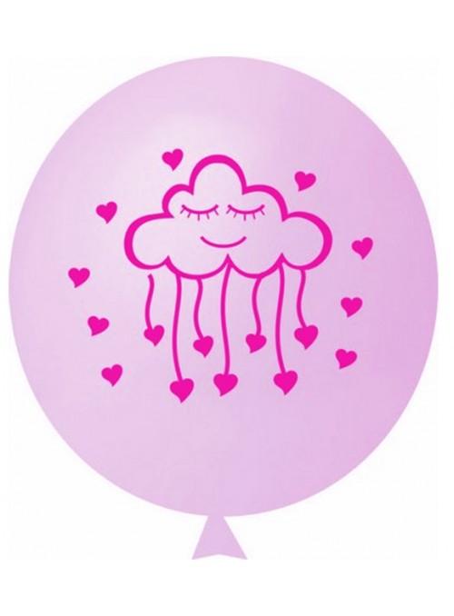 Balões de Látex Chuva de Amor Rosa – 25 unidades