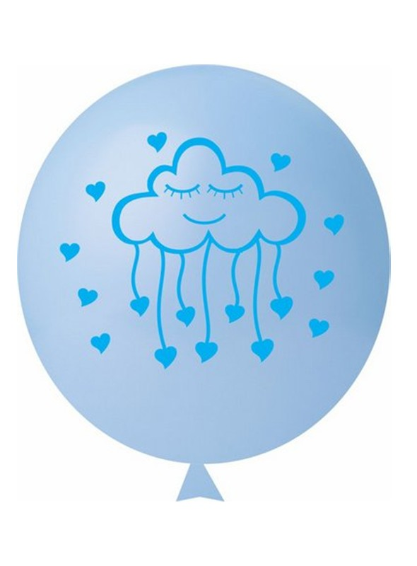 Balões de Látex Chuva de Amor Azul – 25 unidades