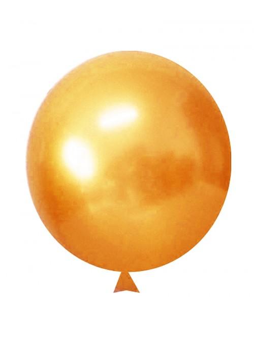 Balões de Látex Translúcido Cristal Laranja – 50 unidades