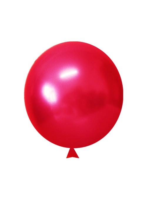 Balões de Látex Translúcido Cristal Vermelho – 50 unidades