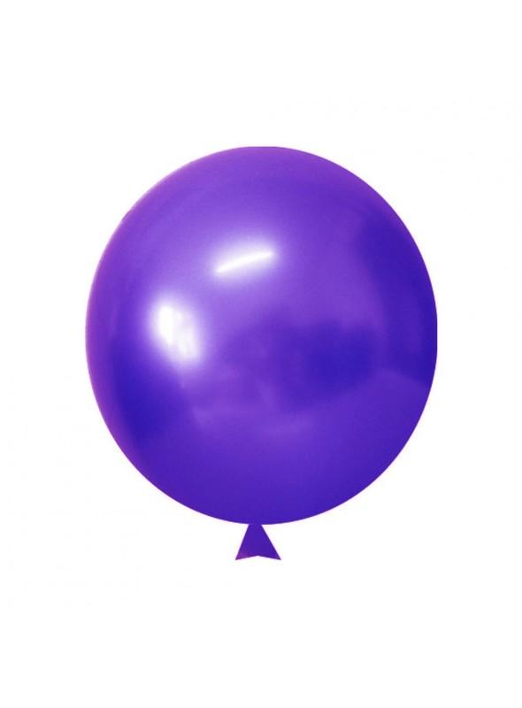 Balões de Látex Translúcido Cristal Roxo Violeta – 50 unidades