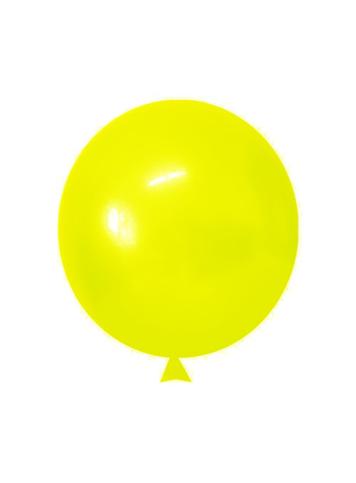 Balões de Látex Translúcido Cristal Amarelo – 50 unidades