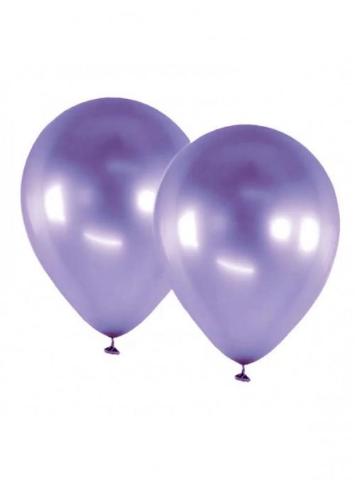 Balões De Látex Alumínio Roxo Violeta 5 Polegadas – 25 unidades