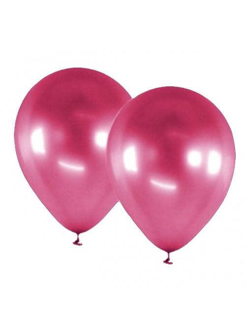 Balões De Látex Alumínio Rosa Fucsia 5 Polegadas – 25 unidades