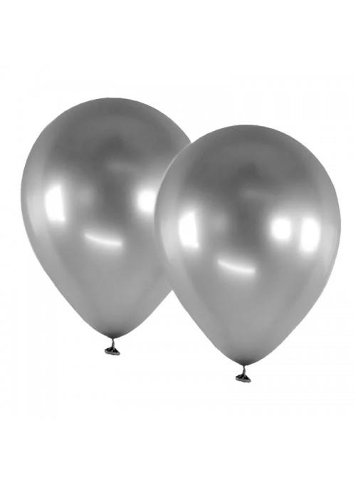 Balões De Látex Alumínio Prata 5 Polegadas – 25 unidades