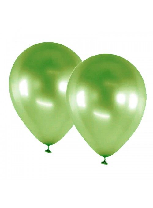 Balões De Látex Alumínio Verde 5 Polegadas – 25 unidades