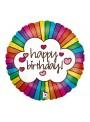 Balão Metalizado Aniversário Arco Íris Holográfico – 1 unidade