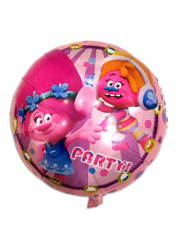 Balão Metalizado Redondo Trolls – 1 unidade