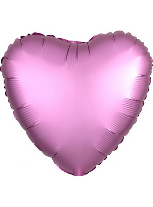 Balão Metalizado Cromado Coração Chrome Rosa – 1 unidade