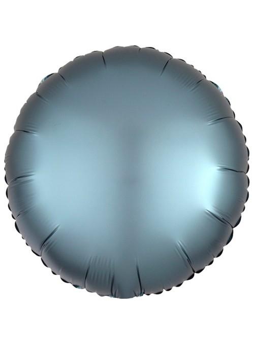 Balão Metalizado Cromado Redondo Chrome Azul – 1 unidade