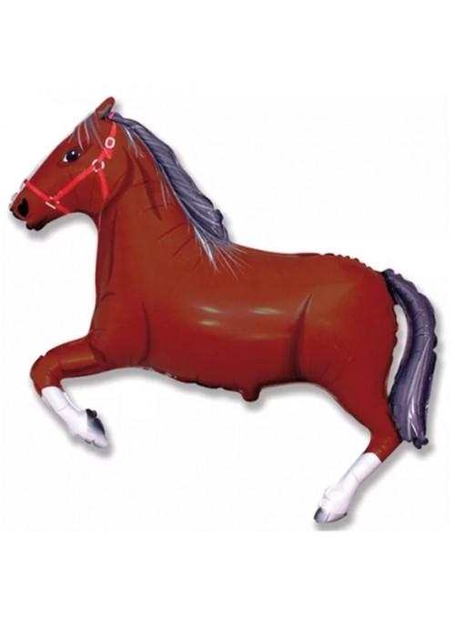 Balão Metalizado Cavalo Marrom – 1 unidade