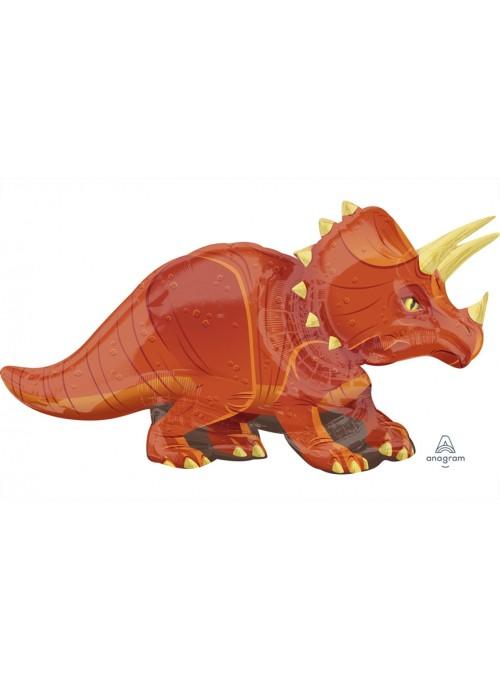 Balão Metalizado Dinossauro Trice – 1 unidade