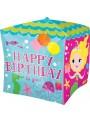 Balão Metalizado Cubez Aniversário Sereia – 1 unidade