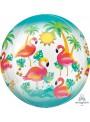 Balão Metalizado Orbz Flamingos – 1 unidade