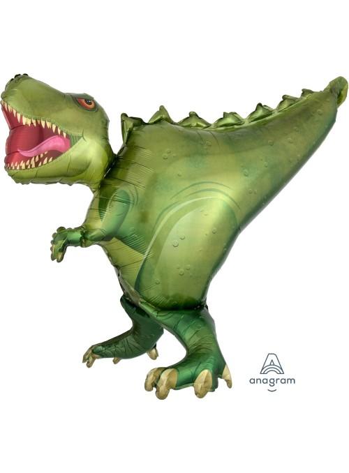Balão Metalizado Shape Dinossauro T- Rex – 1 unidade