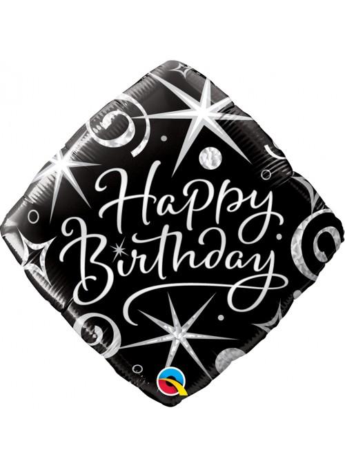 Balão Metalizado Aniversário Faíscas 18 Polegadas 46cm Qualatex