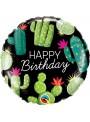Balão Metalizado Aniversário Cactos – 1 unidade