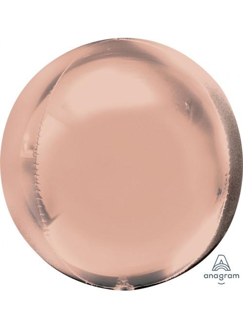 Balão Metalizado 3D Orbz Rose Gold – 1 unidade