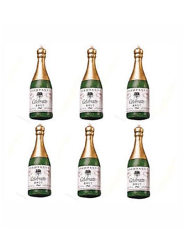 Velas de Bolo Aniversário Garrafa de Champanhe – Kit com 6 unidades