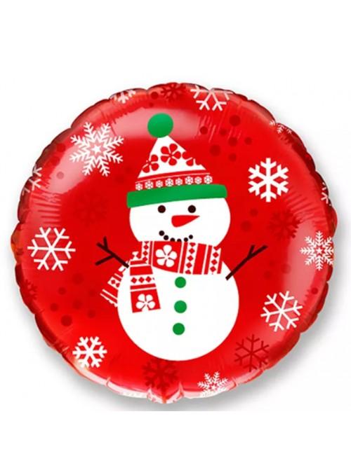 Balão Metalizado Natal Boneco de Neve – 1 unidade