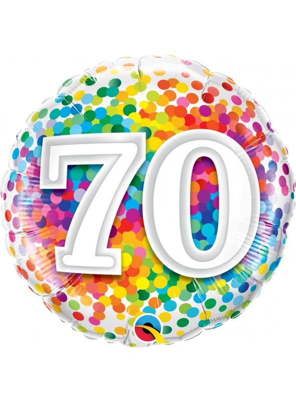 Balão Metalizado Aniversário 70 Anos – 1 unidade